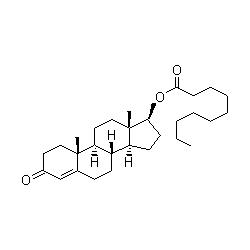 testosterone decanoate graph